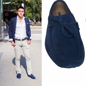 Tod's Men's Blue Suede Gommino Loafer 5.5